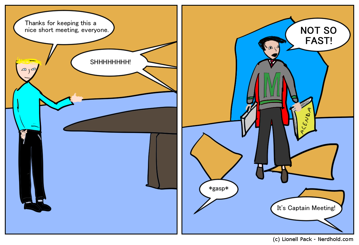 Captain Meeting Comic