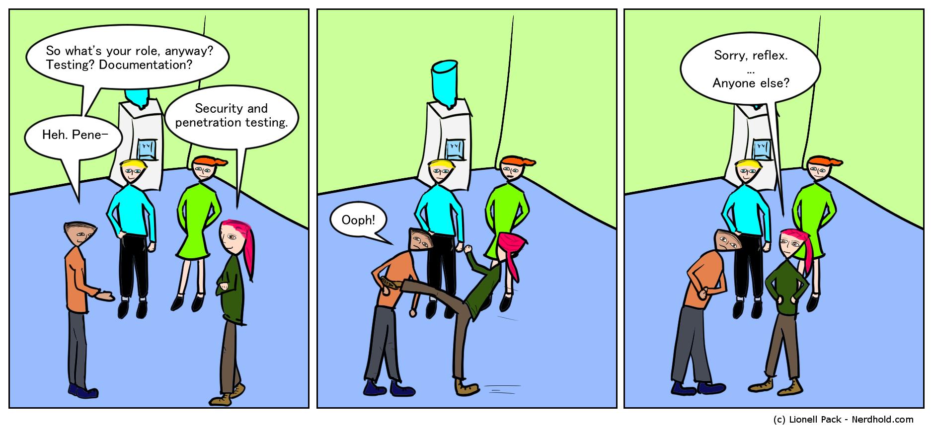 Pen Tester Comic
