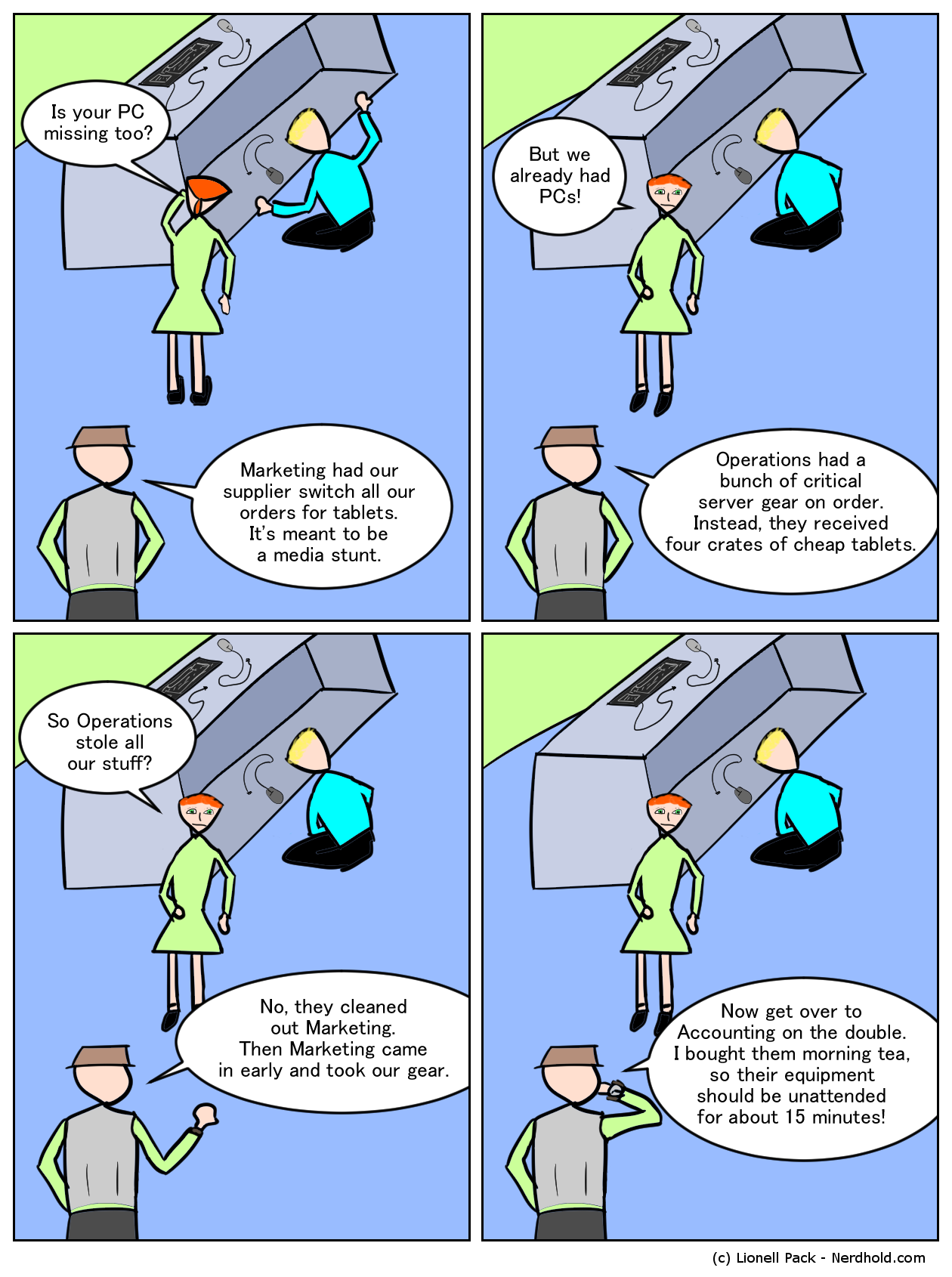 Marketing Stunt Comic