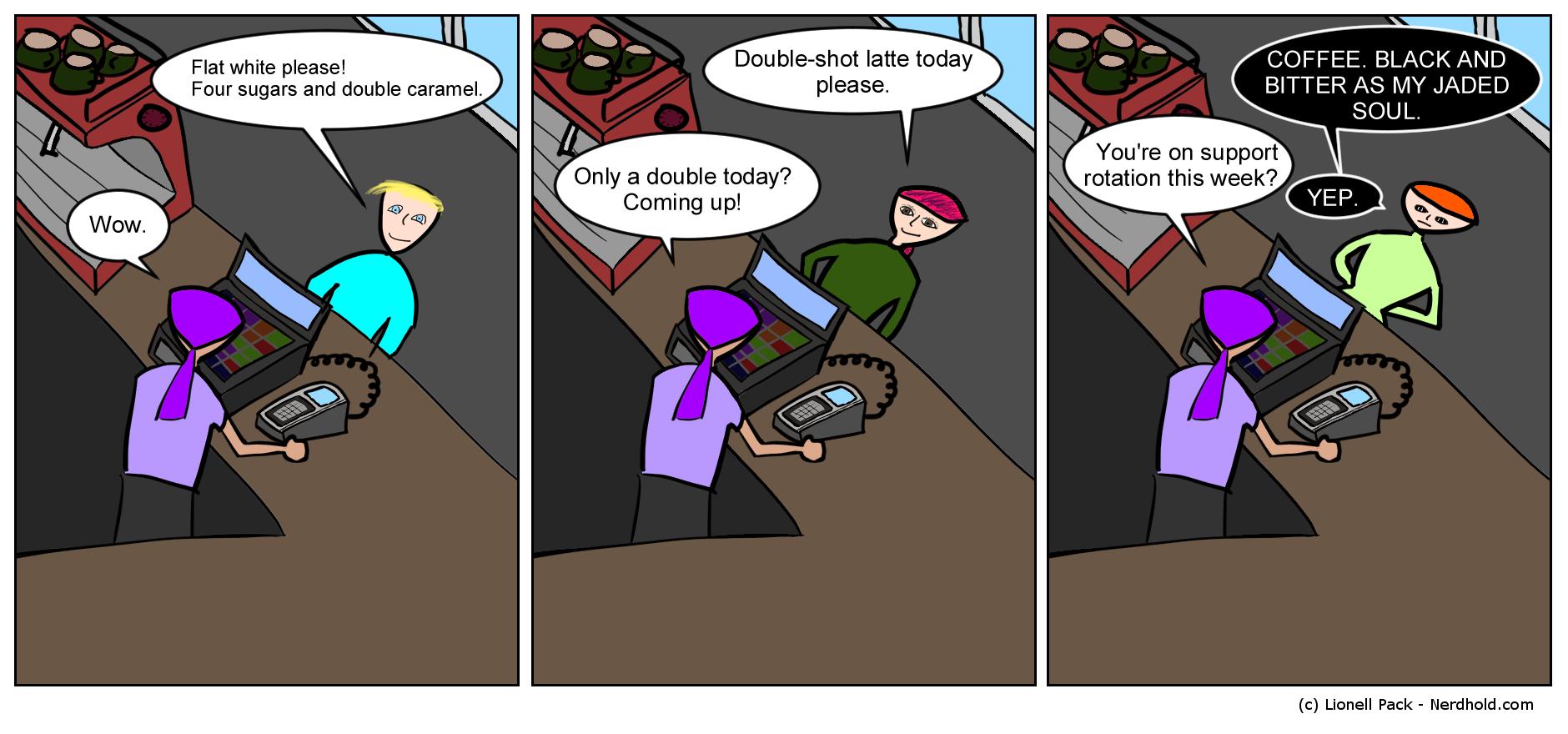 Coffee Orders Comic